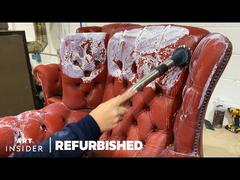 How Vintage Leather Furniture Is Professionally Restored | Refurbished