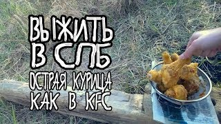 ВЫЖИТЬ В СПБ: майские острые КУРИНЫЕ НОЖКИ, КАК В KFC, тока на природе