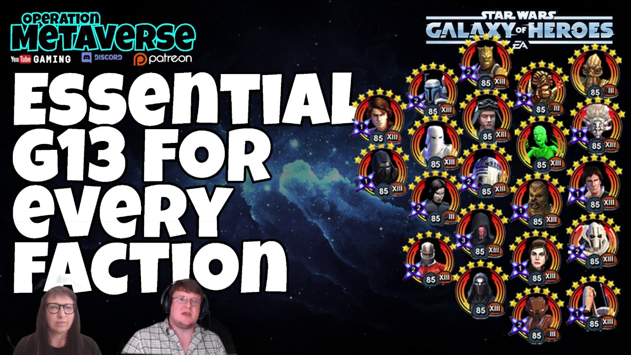 Essential G13 by faction: Ignore this list at your mortal
