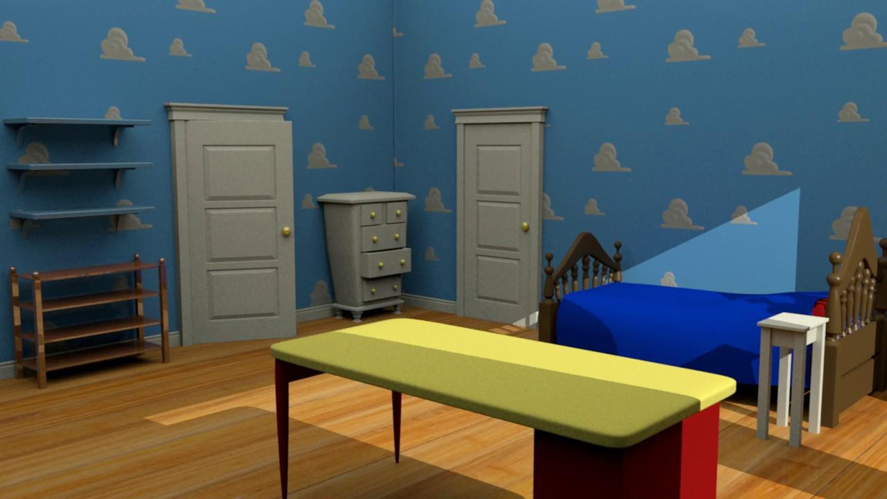 MAYA] Chambre Andy Toy story - YouTube