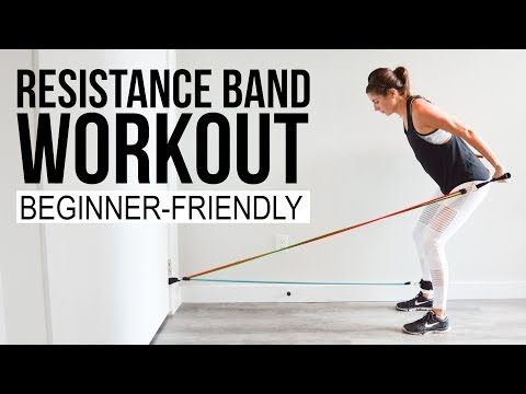 Full Body Resistance Band Workout Low Impact + Beginner Friendly