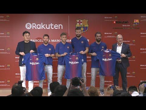 【楽天】FCバルセロナとのパートナーシップ開始に関する記者会見(2017年7月13日)
