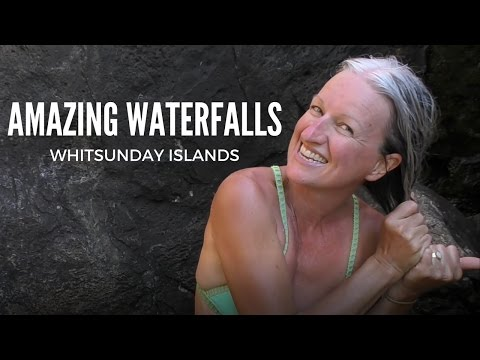 Sailing the Whitsunday Islands we find an Amazing Waterfall!  Sailing SV Sarean Ep.1
