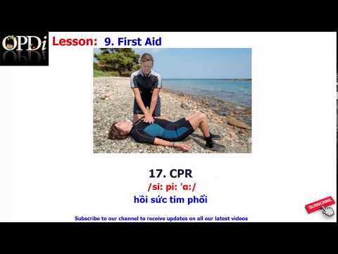 Oxford dictionary | 9. First Aid | Oxford picture dictionary 2nd edition