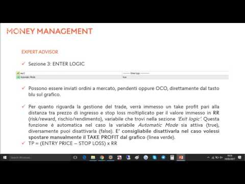 "Funzionamento dell'EA: ""Money Management Advanced"" per MT4"
