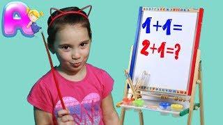 Anna and Yuliana back to school  / Anna like a teacher