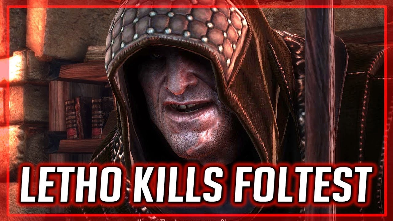 Letho Assassinates King Foltest Witcher 2 Youtube Foltest most certainly still harbored feelings for his former lover and decided to save the children that were the fruit of this affair. letho assassinates king foltest witcher 2