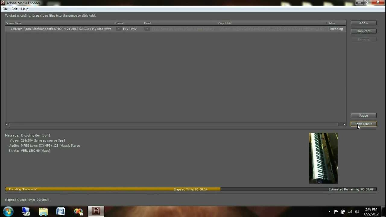 How To Convert WMV to FLV video Adobe Media Encoder