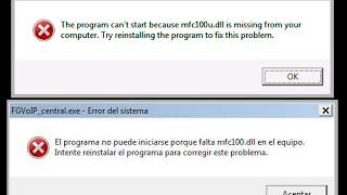 Solución al Error mfc100.dll y mfc100u.dll (Funciona al 100%)