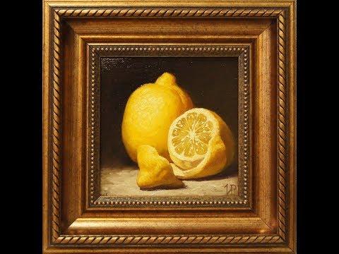 """Работа над картиной """"Сочный лимон"""" в технике академической живописи."""