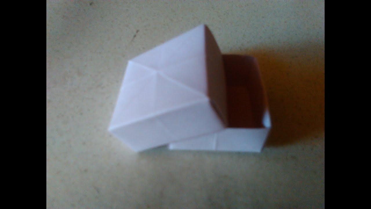 boite carr modulaire en origami simple en fran ai pour les petits et les grands youtube. Black Bedroom Furniture Sets. Home Design Ideas