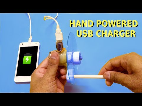 How to make a Hand Powered USB Charger at home
