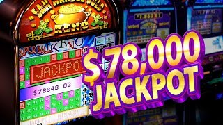 Woman Hit $78000 on Keno $8 bet San Manuel Gold Super Ball Keno + S...