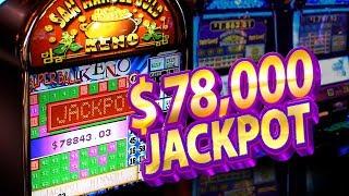 WOMAN HIT $78,000 on Keno !!! San Manuel Gold !!! + Slot Hit Win
