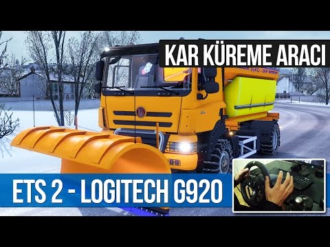 Euro Truck Simulator 2 - KAR KÜREME ARACI TATRA Phoenix [Logitech G920]