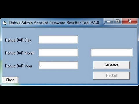 Dahua Admin Account Password Resetter Tool !!!