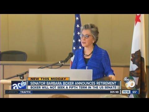 Sen. Barbara Boxer won't seek re-election