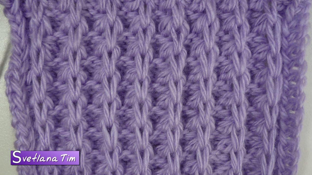 Схема вязания на спицах узора косы спицами