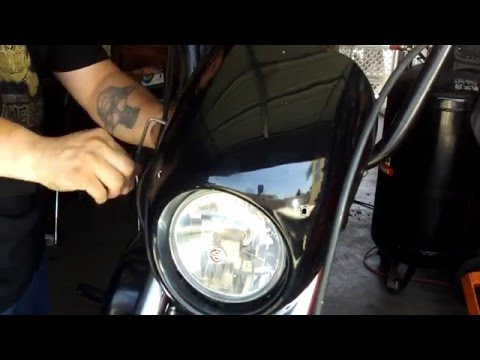 how to install Sportster Fairing