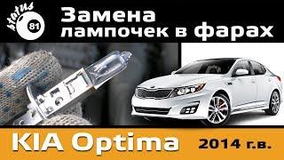 Замена лампочек в фарах Киа Оптима / Лампочки Киа / Фары Киа Оптима
