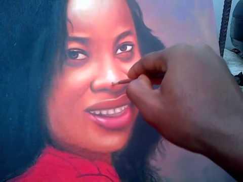 achigbu uzoma commissioned portrait painting done by ayeola ayodeji nigerian artist