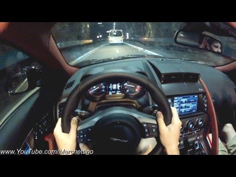 POV: You Drive the Jaguar F-Type S in the Tunnels and Hills!