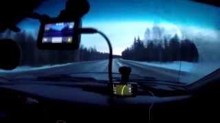 Северное путешествие - из Москвы в Мурманск - 5000 км(Февраль 2015 года. Большая черная мицубишка. Двое отморо... двое путешественников с горящими глазами отправля..., 2015-03-28T17:59:34.000Z)