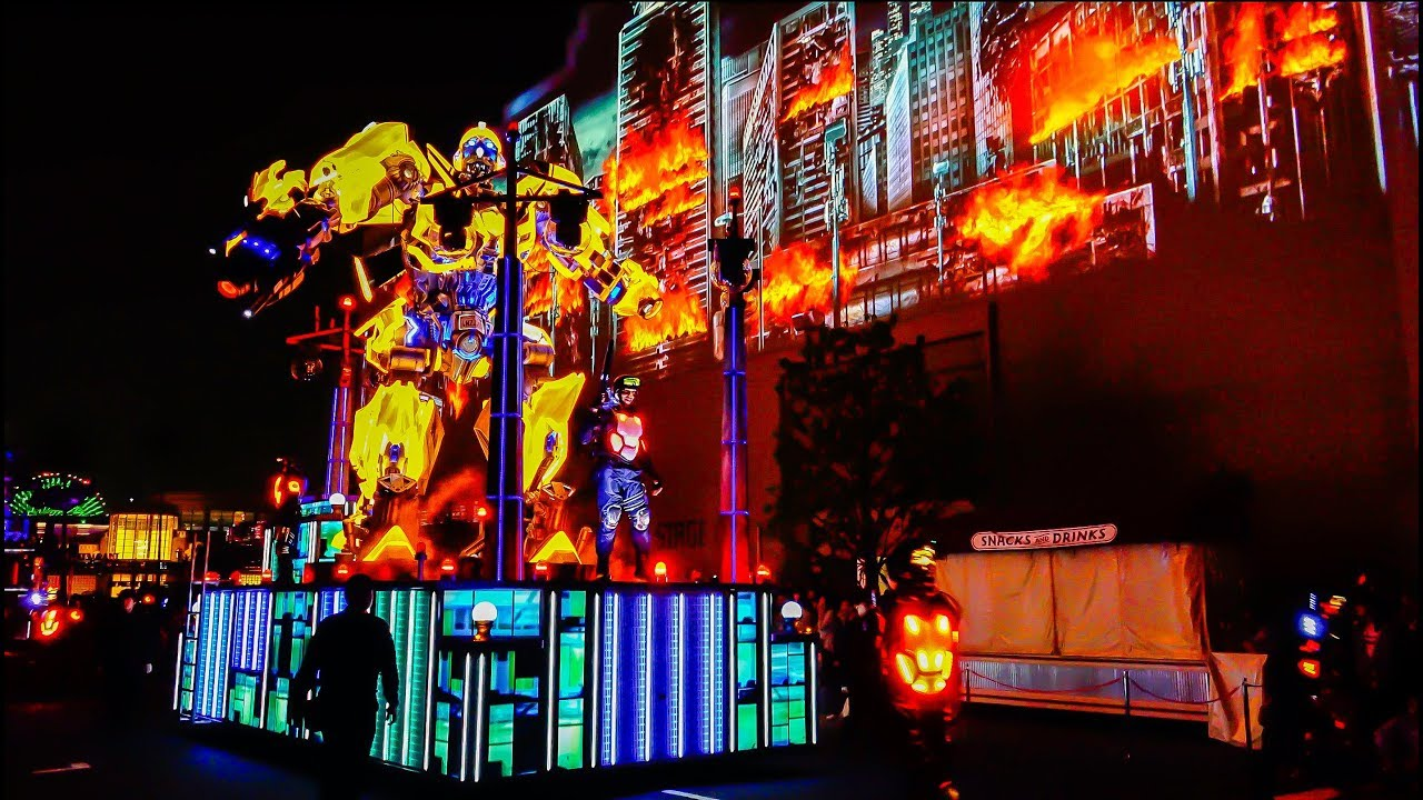 USJ NEW [ UNIVERSAL SPECTACLE NIGHT PARADE ] [2/4] transformer float