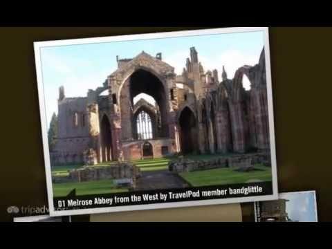 Melrose Abbey - Melrose, Borders, Scotland, United Kingdom