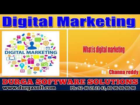 Digital Marketing || Demo by Channa Reddy