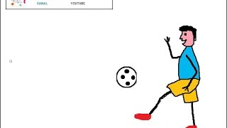 How to draw a animated boy playing soccer / Nursery rhymes