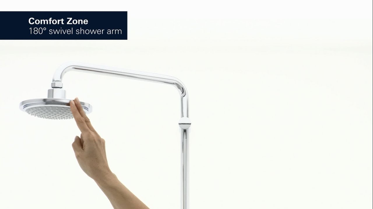 head shower grohe products mounted freehander wall concealed