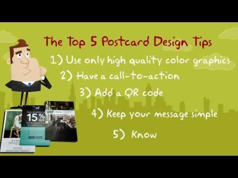 5 Tips To Design An Effective Postcard