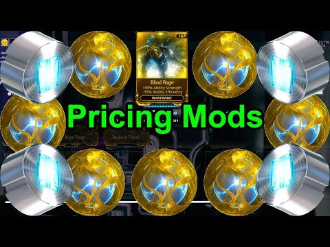 How To Price Mods For Platinum | Warframe