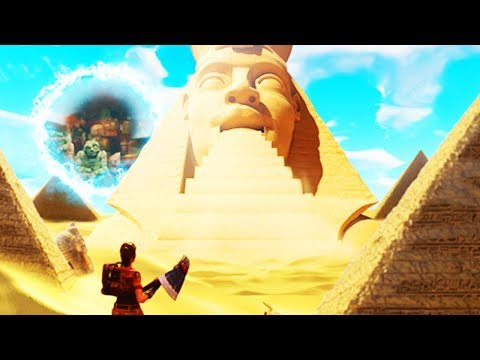 Don't look now, but HE'S ALREADY HERE.. (Fortnite ROAD TRIP EGYPTIAN SKIN in LOOT LAKE)