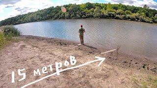 ОЗЕРО ВЫСОХЛО НО РЕШИЛИ ПОРЫБАЧИТЬ и ЧТО ИЗ ЭТОГО ВЫШЛО Рыбалка на спиннинг 3 15 метра