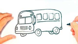 Cómo dibujar un Autobús para niños | Dibujo de Autobús paso a paso