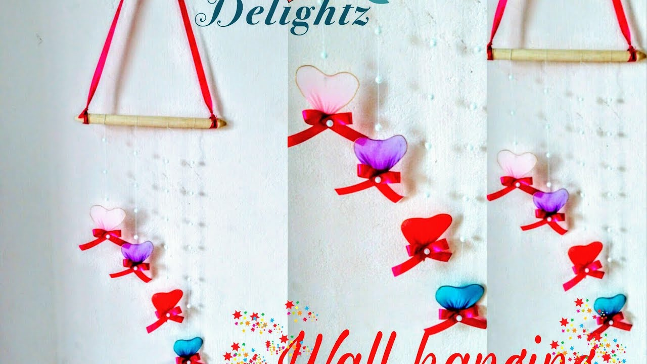 Wall Hanging Craft Ideas For Kids Part - 24: How To Do Wall Hanging Craft Ideas For Kids/ Simple And Easy Decor For  Beginners- By Crafty Delightz