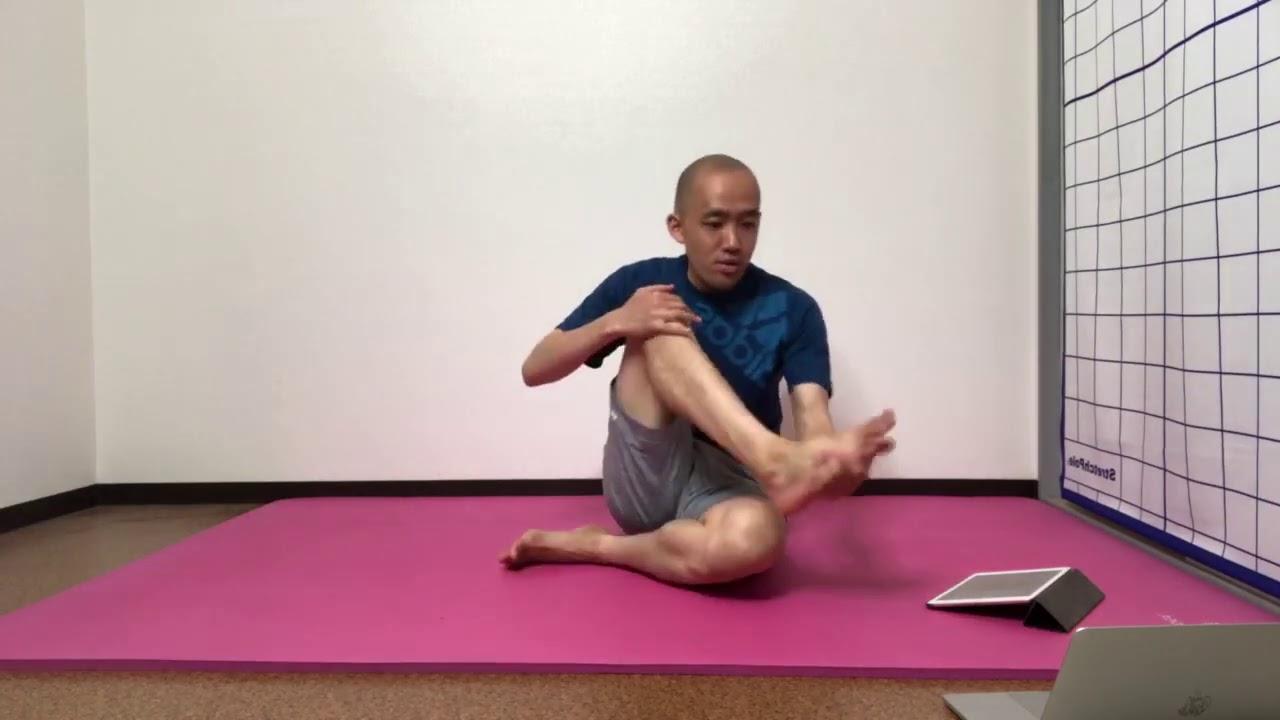 膝調整と骨盤底筋(部分カット)