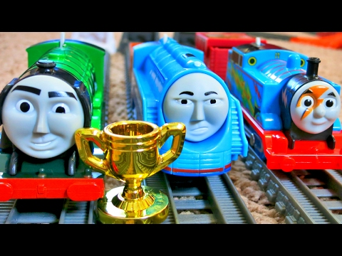 THOMAS AND FRIENDS TRACKMASTER THE GREAT RACE SHOOTING STAR FLYING SCOTSMAN