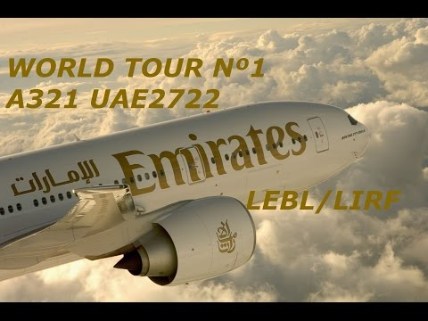 World Tour Nº1 LEBL/LIRF A321 UAE2722 Emirates