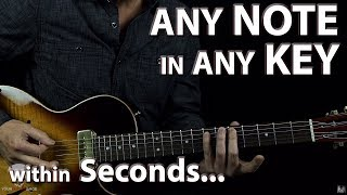 How to Find Any Chord, Any Note in Any Key Major or Minor within Seconds