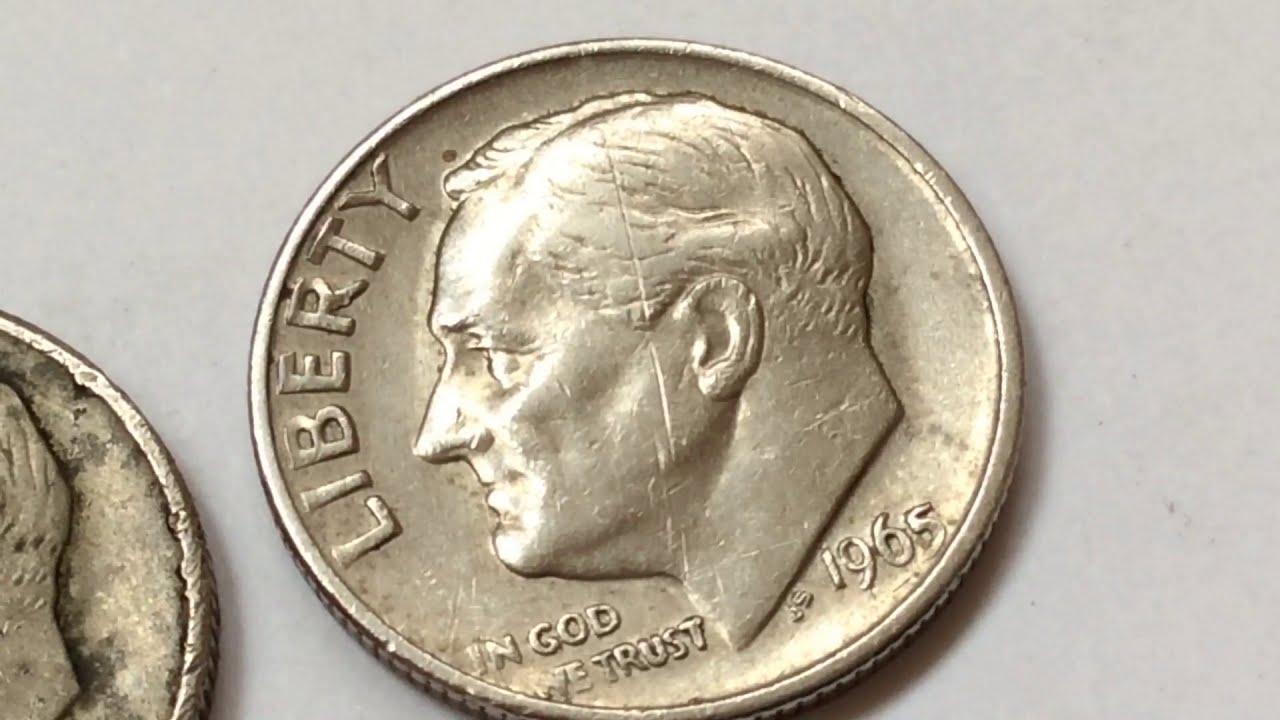 8500 RARE ERROR COIN COLLECTION 1965 ROOSEVELT DIME CENTAVO MONEDA