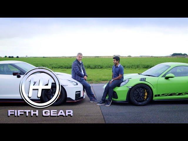 Porsche 911 GT3 RS Vs Nissan GTR Nismo - the track test | Fifth Gear