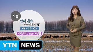 [날씨] 한파 계속...서해안 최고 15cm 폭설 / YTN
