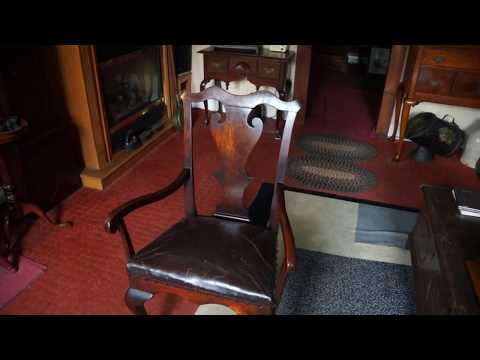 Antique Furniture Queen Anne Chair Circa 1750.