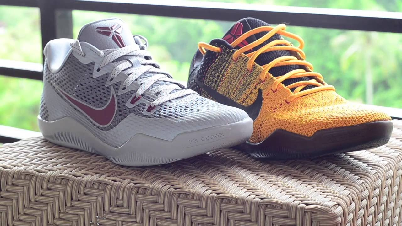 8cb42b7f3c1b cheap nike kobe 11 em custom paint youtube b0c0f 4dd1c  discount kobe xi  comparison em engineered mesh vs. elite flyknit lower merion aces vs warrior