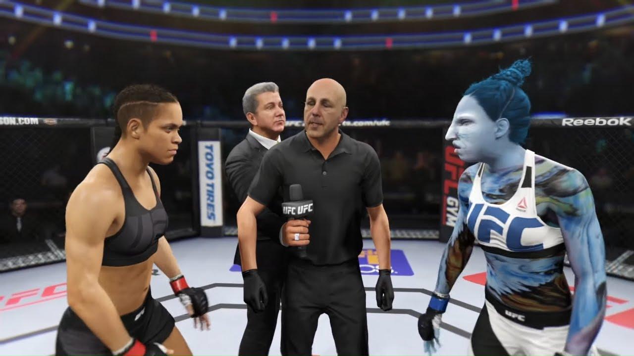 Amanda Nunes vs. Big Ara - EA Sports UFC 2 - Epic Girl Fights 💛