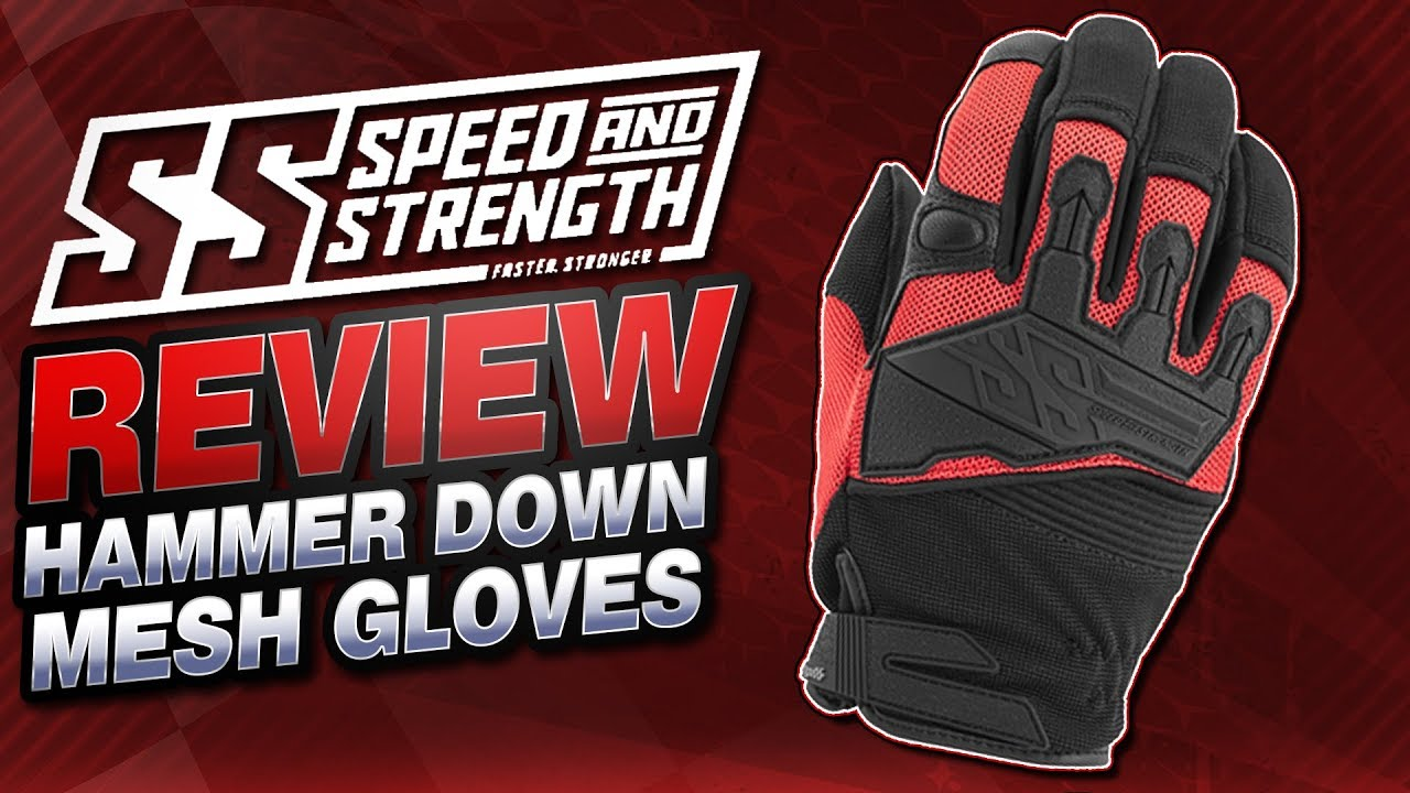 Speed and Strength Hammer Down Mesh Gloves Review from  Sportbiketrackgear com
