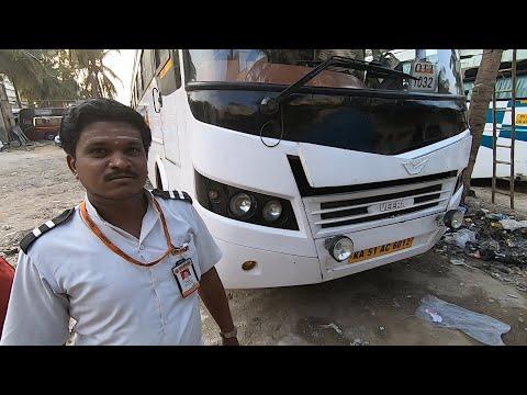 Small Chat With Bus Driver Of Orange Travels AC Sleeper Bus Bangalore Bidar | Ashok Leyland Veera